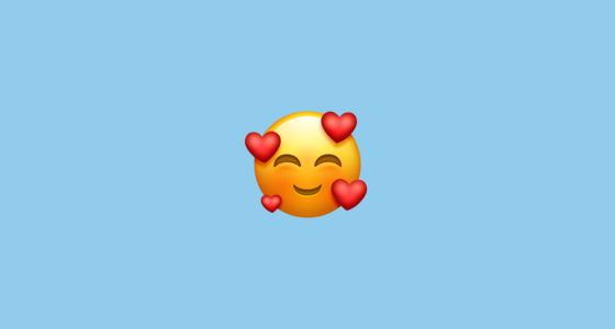 🥰 Smiling Face With Hearts Emoji on Emojipedia 11 0