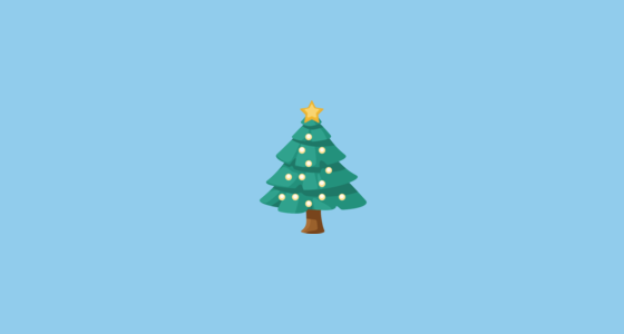Christmas Tree Emoji On Facebook 2 2