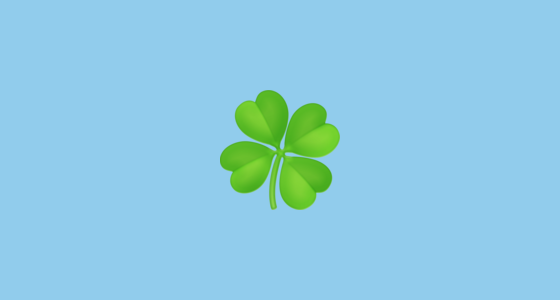 🍀 Four Leaf Clover Emoji on Facebook 3 1
