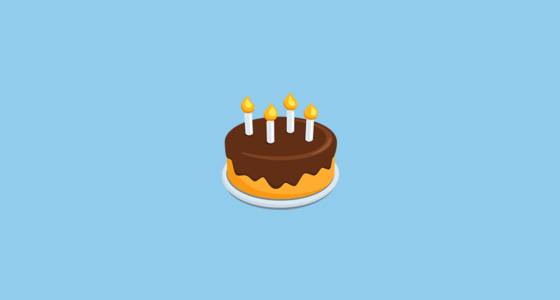 Birthday Cake Emoji On Messenger 1 0