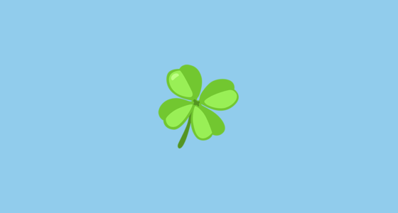 🍀 Four Leaf Clover Emoji on Messenger 1 0