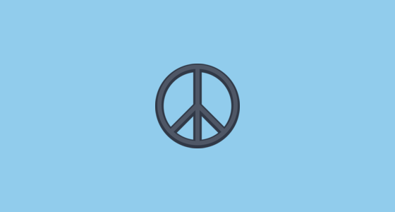 ☮️ Peace Symbol Emoji on Facebook 2 0