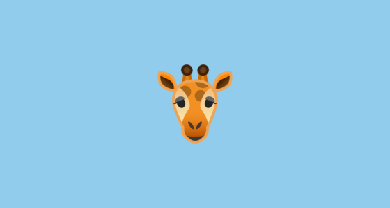 giraffe emoji on google android 8 0