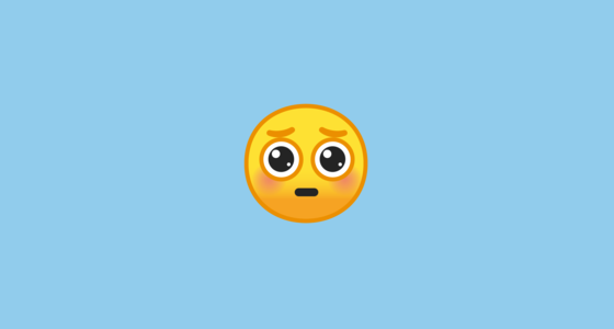 pleading face emoji on google android 9 0
