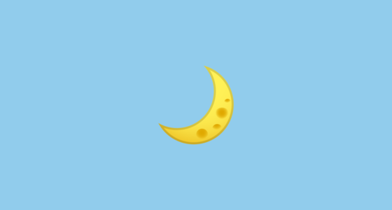 🌙 Crescent Moon Emoji on Google Android 10 0