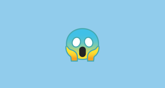 😱 Face Screaming in Fear Emoji on Google Android 10.0