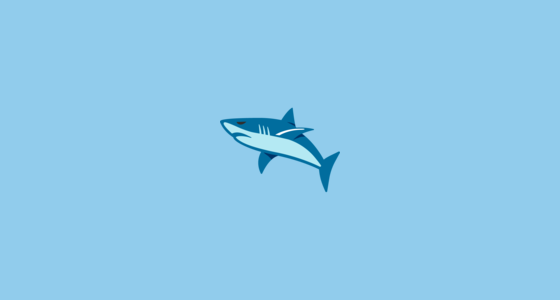 🦈 Shark Emoji on Google Android 7 0