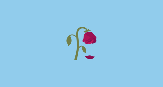wilted flower emoji on google android 7 0