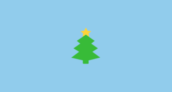 Christmas Tree Emoji On Microsoft Windows 10