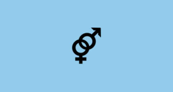 Interlocked Female And Male Sign Emoji