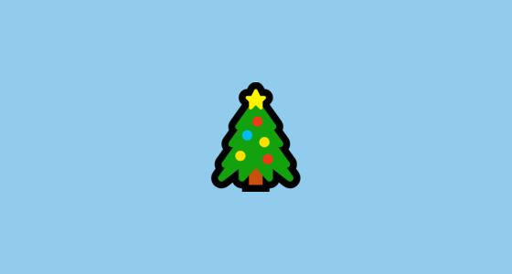 Christmas Tree Emoji On Microsoft Windows 10 Anniversary Update