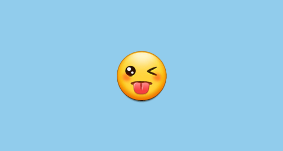 What does a wink emoji mean