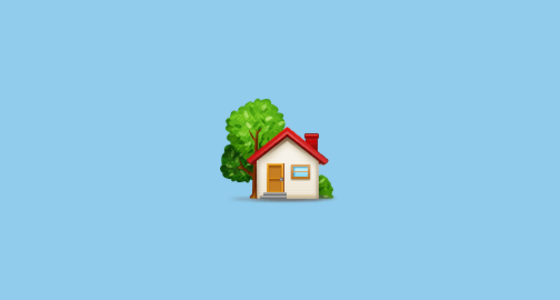 🏡 House With Garden Emoji on Samsung Experience 9 0
