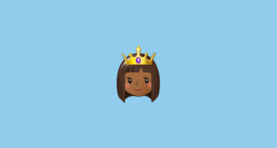 👸🏾 Princess: Medium-Dark Skin Tone Emoji on Samsung