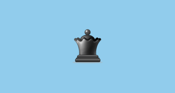 Black Chess Queen Emoji