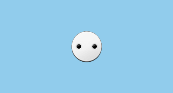 White Circle with Two Dots Emoji Symbols Copy And Paste Dot