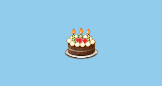 Birthday Cake Emoji On Samsung TouchWiz Nature UX 2