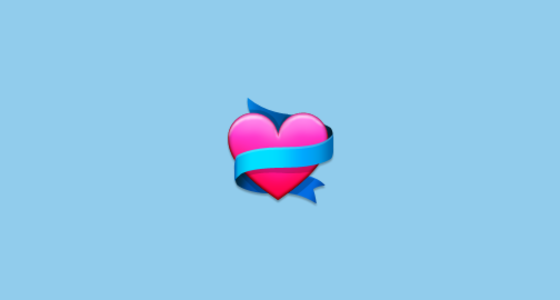 Heart With Ribbon Emoji On Samsung Touchwiz Nature Ux 2