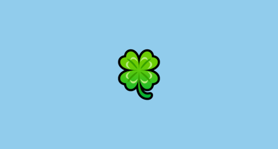 🍀 Four Leaf Clover Emoji on SoftBank 2014
