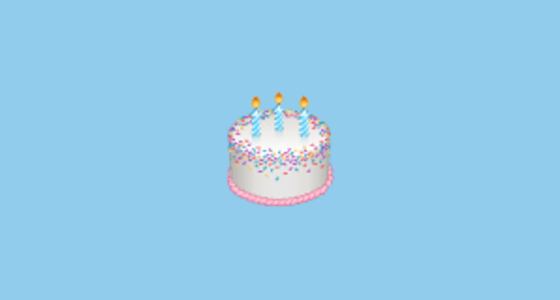 Birthday Cake Emoji On WhatsApp 217