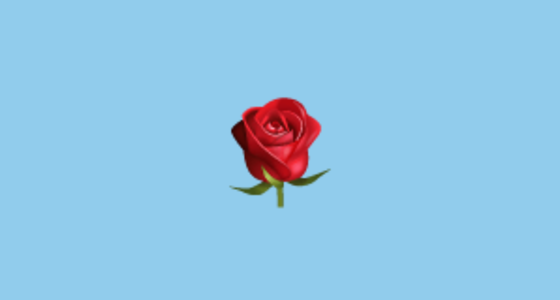 What does a red rose emoji mean