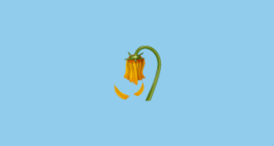 Wilted Flower Emoji Copy And Paste