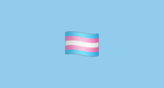 🏳️ ⚧ Blue, Pink and White (aka Transgender) Flag Emoji