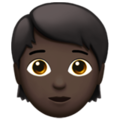 Adult: Dark Skin Tone on Apple iOS 11.3