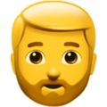 Man: Beard on Apple iOS 11.3
