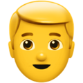 Man: Blond Hair on Apple iOS 11.3