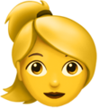 Woman: Blond Hair on Apple iOS 11.3