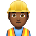 Construction Worker: Medium-Dark Skin Tone on Apple iOS 11.3