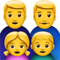 Family: Man, Man, Girl, Boy on Apple iOS 11.3