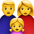 Family: Man, Woman, Girl on Apple iOS 11.3