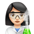 Woman Scientist: Light Skin Tone on Apple iOS 11.3