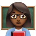Woman Teacher: Medium-Dark Skin Tone on Apple iOS 11.3