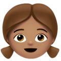 Girl: Medium Skin Tone on Apple iOS 11.3