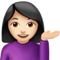 Person Tipping Hand: Light Skin Tone on Apple iOS 11.3