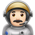 Man Astronaut: Light Skin Tone on Apple iOS 11.3
