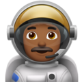 Man Astronaut: Medium-Dark Skin Tone on Apple iOS 11.3