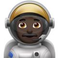 Man Astronaut: Dark Skin Tone on Apple iOS 11.3