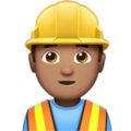 Man Construction Worker: Medium Skin Tone on Apple iOS 11.3