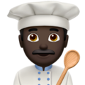 Man Cook: Dark Skin Tone on Apple iOS 11.3