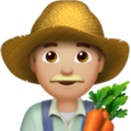 Man Farmer: Medium-Light Skin Tone on Apple iOS 11.3