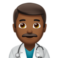 Man Health Worker: Medium-Dark Skin Tone on Apple iOS 11.3
