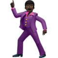 Man Dancing: Dark Skin Tone on Apple iOS 11.3
