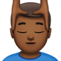 Man Getting Massage: Medium-Dark Skin Tone on Apple iOS 11.3