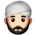 Man Wearing Turban: Light Skin Tone on Apple iOS 11.3