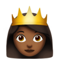Princess: Medium-Dark Skin Tone on Apple iOS 11.3