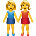 Two Women Holding Hands on Apple iOS 11.3
